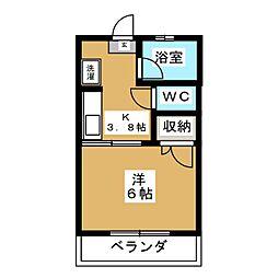 コーポ松谷I[2階]の間取り