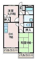 神奈川県相模原市南区旭町の賃貸マンションの間取り