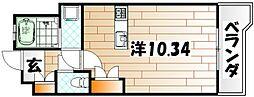 サンラビール小倉[308号室]の間取り