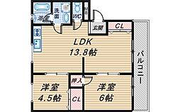 泉ヶ丘旭マンション[405号室]の間取り