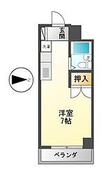 伏見ヨックスマンション[5階]の間取り