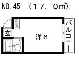 スペースアベノ[4階]の間取り