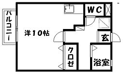 グランシェーヌ[1階]の間取り