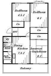 第三メゾン相葉コーポ[1階]の間取り