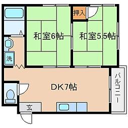 兵庫県神戸市兵庫区水木通5丁目の賃貸マンションの間取り