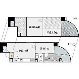ZEUS難波クリスタル[2階]の間取り