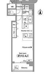 NIKKO APARTMENT HOUSE 5階ワンルームの間取り