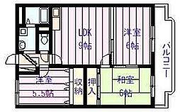 サン ウォーク I・II[1階]の間取り