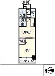 スプリームヒルズ鶴舞[6階]の間取り