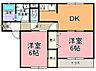 間取り,2DK,面積52.65m2,賃料5.9万円,JR常磐線 水戸駅 3.2km,,茨城県水戸市酒門町3287番地