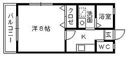 シーブリームII[1階]の間取り
