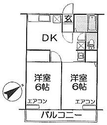 シティハイム[2階]の間取り