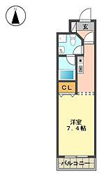 愛知県長久手市砂子の賃貸マンションの間取り