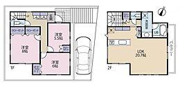 建物参考プラン例:建物面積99.92? 建物価格2、100万円(税込)