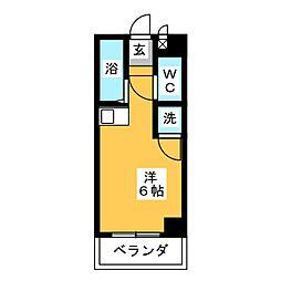 ドール六番町[7階]の間取り