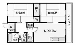 松ヶ丘ハイツ[3階]の間取り
