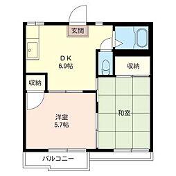 クラウン エステート[2階]の間取り