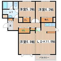 北海道札幌市東区北二十四条東9丁目の賃貸マンションの間取り