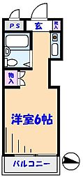 TOP原木中山第3[304号室]の間取り