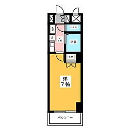 ハイツ亀島[5階]の間取り