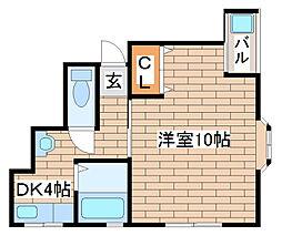 兵庫県神戸市長田区戸崎通3丁目の賃貸マンションの間取り