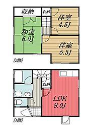 [テラスハウス] 千葉県成田市飯田町 の賃貸【/】の間取り