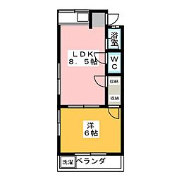 コーポすずもと 東棟[2階]の間取り