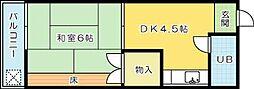 ヤングライフビラ[2階]の間取り