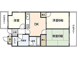 コーポ延寿荘[5階]の間取り