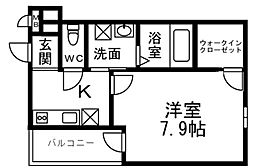 フジパレス昭和町二丁目[3階]の間取り