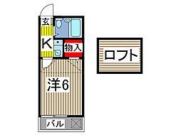 グリーンパレス蕨[2階]の間取り