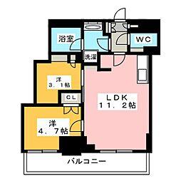 Brillia ist 元浅草 12階2LDKの間取り