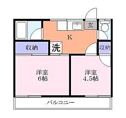 林アパート[2階]の間取り
