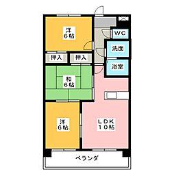 パラシオン京和[2階]の間取り