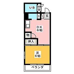 ガーデンハイツ中村[3階]の間取り