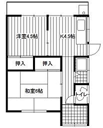 [テラスハウス] 徳島県徳島市かちどき橋6丁目 の賃貸【/】の間取り