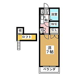 コテージ恵和V[2階]の間取り
