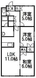 プリオール福井[307号室]の間取り