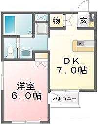ローズマンションA1[3階]の間取り