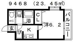 ARATA松原天美東(アラタ松原天美東)[304号室号室]の間取り