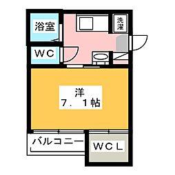 AZEST-RENT桜本町II 1階1Kの間取り