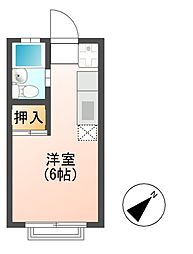 エステートピアFUJI(B)[1階]の間取り