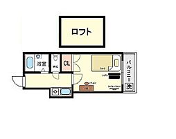 家具・家電付き レオパレス諸岡2[2階]の間取り