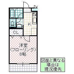 KAさくら[102号室号室]の間取り