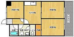 第1鍵山ビル[4階]の間取り