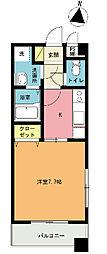 ディール東大成[3階]の間取り