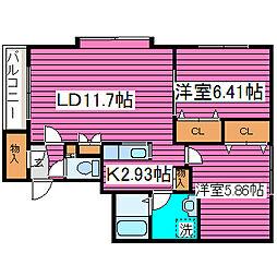 北海道札幌市東区北三十五条東10丁目の賃貸マンションの間取り