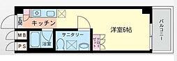 東武北大宮サンライトマンション[406号室]の間取り