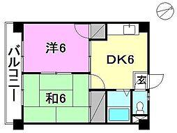 第16杉フラット[502 号室号室]の間取り