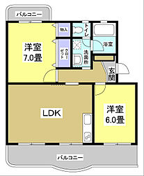 Eマンション[201号室]の間取り